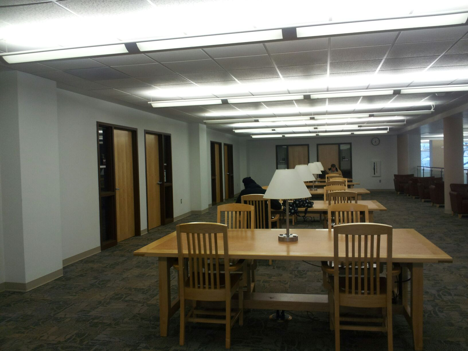 Study area and reference librarian offices, 2nd floor